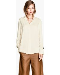 H&M Woven Blouse - Lyst