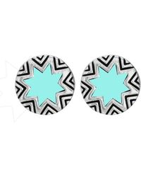 House Of Harlow Mini Sunburst Studs - Lyst