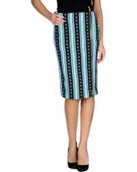 Emanuel Ungaro Knee Length Skirt blue - Lyst