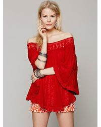 Free People Offtheshoulder Tunic - Lyst
