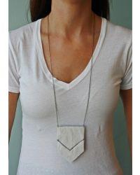 Spectrum | Chevron Leather Necklace | Lyst