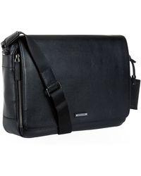 Michael Kors Large Warren Leather Messenger Bag - Lyst