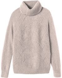 Rebecca Taylor | Brushed Pointelle Turtleneck Pullover | Lyst