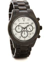 Michael Kors Layton Watch - Blackwhite - Lyst