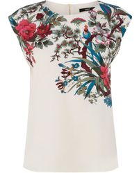Oasis Placement Botanical Shell Top - Lyst