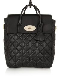 Mulberry  Cara Delevingne Large Quilted Leather Backpack - Lyst