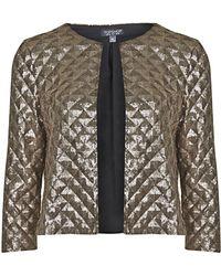 Topshop Pyramid Sequin Jacket - Lyst