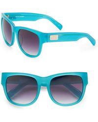 Matthew Williamson 56Mm Oversized Sunglasses blue - Lyst