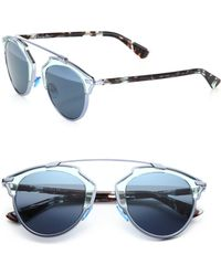 Dior So Real 48Mm Pantos Sunglasses blue - Lyst