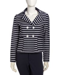 Nanette Lepore Striped Doublebreasted Jacket - Lyst
