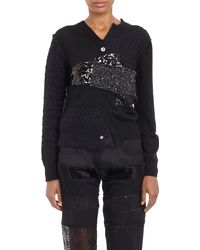 Junya Watanabe Sequinedpanels Patchwork Sweater - Lyst