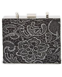 Natasha Couture Lacy Box Clutch - Metallic - Lyst