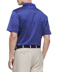 Peter Millar Mercy Stripe Polo Shirt Bluewhite - Lyst