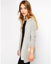 Esprit - Ribbed Edge To Edge Cardigan - Lyst
