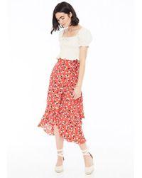 12c30b2d6 Faithfull The Brand - Celeste Wrap Skirt Jasmine Floral Print - Lyst