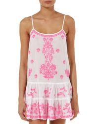Juliet Dunn - Pink Embroidered Cami Dress - Lyst