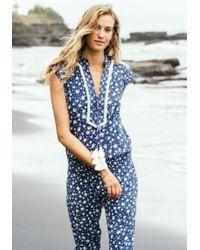 Poupette - Long Donna Jumpsuit Blue Tassel - Lyst