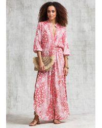 Poupette - Long Ilona Tunic Dress Pink - Lyst