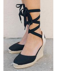 Soludos - Closed Toe Wedge - Lyst
