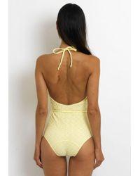 Lisa Marie Fernandez - Charlotte Swimsuit Yellow - Lyst