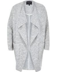 River Island Grey Relaxed Cotton Jersey Cocoon Jacket - Lyst