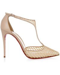 Christian Louboutin Salonu Mesh And Fishnet Pumps - Lyst
