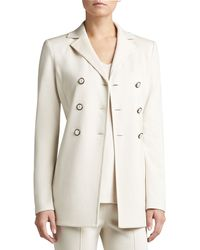 St. John Collection Knit Doublebreasted Jacket - Lyst