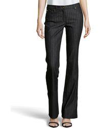 Escada Metallic Pinstripe Stretch Jeans - Lyst
