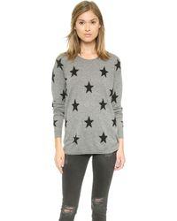 Zoe Karssen Loose Fit Straight Stars Sweater - Grey Heather - Lyst