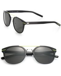 Dior Homme Metal Round Sunglasses - Lyst