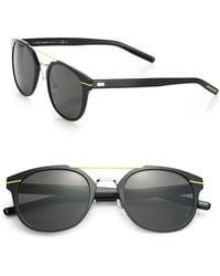 Dior Homme Metal Round Sunglasses black - Lyst