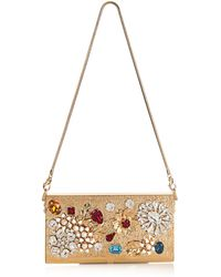 Dolce & Gabbana Crystal-Embellished & Gold-Plated Clutch - Lyst