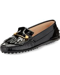 Tod's Patent Leather Kiltie  Pin Driver - Lyst
