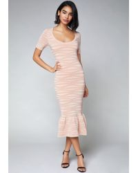 Bebe - Whitney Midi Dress - Lyst