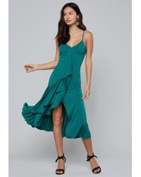 Bebe - Cascading Ruffle Dress - Lyst