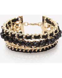 Bebe - Triple Row Bracelet - Lyst