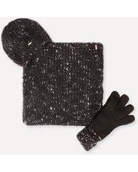 Bebe - Hat, Gloves & Scarf Set - Lyst