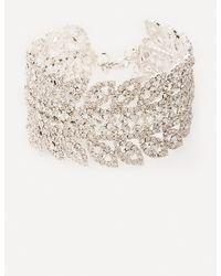 Bebe - Crystal Leaf Bracelet - Lyst
