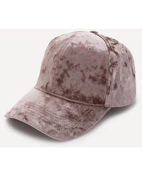 Bebe - Crushed Velvet Cap - Lyst