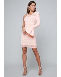 Bebe - Hannah One Sleeve Dress - Lyst