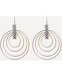 Bebe - Gold Multi-hoop Earrings - Lyst