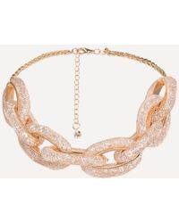 Bebe - Crystal Link Necklace - Lyst