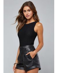 Bebe - Cass Sleeveless Sweater Top - Lyst