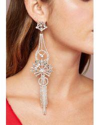 Bebe - Long Chandelier Earrings - Lyst