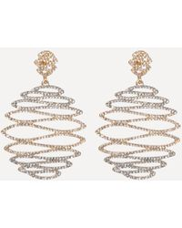 Bebe - Crystal Wavy Earrings - Lyst