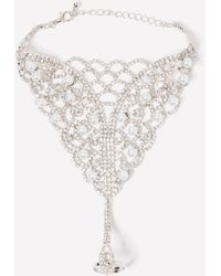 Bebe Pearly Crystal Hand Chain - Multicolour