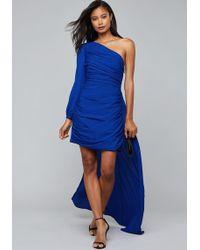 Bebe - Train One Shoulder Dress - Lyst