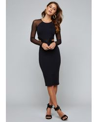 Bebe - Melanie Mesh Cutout Dress - Lyst