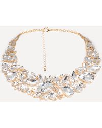 Bebe - Crystal Statement Necklace - Lyst