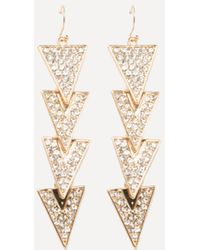 Bebe - Multi-triangle Earrings - Lyst